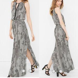 WHBM White Stripe Split Maxi Dress